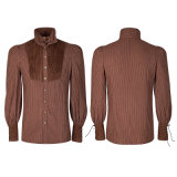 Y-755 Punk Rave Classic italiano Corduroy Men Brown Shirt