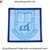 Kundenspezifisches Quadrat gesponnenes Abzeichen für Schuluniform (YH-WB012)