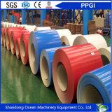 El grado de CGCC prepintó las bobinas de acero galvanizadas/de las bobinas/PPGI las bobinas de acero cubiertas color
