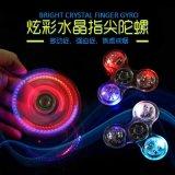 LED e Bluetooth Light Hand Fidget Spinner Glowing Tri Spinner Fidget