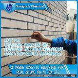 Émulsion acrylique de dureté de styrène élevé de film pour la peinture en pierre réelle