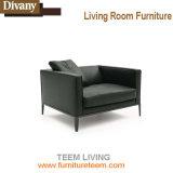Cadeira de cobre do braço da câmara de ar do aço inoxidável, cadeira de couro da sala de visitas do couro