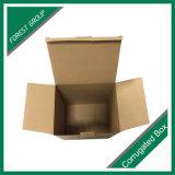 Caixa de transporte colorida feita sob encomenda do papel ondulado da dobradura