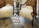 Luz decorativa Om9156 do pendente da lâmpada de cristal barata do pendente da máscara da corda dos candelabros