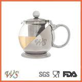 Strumento d'argento del tè & del caffè del POT del tè di ramatura del POT del tè di colore Wschmy045