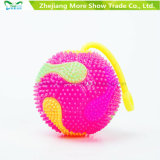 Lâmpada de som intermitente Light-up Spiky Puffer Massaging Ball Yo-Yo Toys