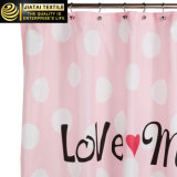 Tenda di acquazzone cifrata del tessuto di acquazzone di colore rosa poco costoso delle tende