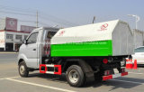 3개 입방 미터 작은 6개의 바퀴 Sinotruk는 팔 3 톤 쓰레기 트럭을 복사한다