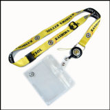 Retrátil PVC Nome / ID Card Badge Reel Holder Custom Lanyard with Badge Holder (NLC006)