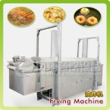 O Yam automático industrial da banana da batata lasca a frigideira contínua que frita a máquina