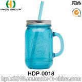 350ml BPA geben Plastikmaurer-Glas, doppel-wandige Plastikflasche mit Griff frei (HDP-0018)