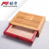 Caisse en bois de cadeau de cigare carbonisée par tiroir de Vieux-Mode