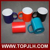 Tasses en céramique de vente chaudes de modification polychrome de la sublimation 11oz