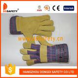Ddsafetyの概要の働く手袋のための2017年の豚皮様皮膚の綿背部