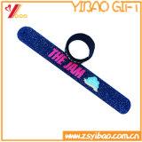 Bracelet fait sur commande de claque de silicones de logo pour le cadeau de promotion (YB-SW-29)