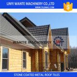 Telhas de telhado revestidas do metal da boa areia da caraterística da irradiação térmica