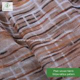100%のViscoseの縞のMoslem Scarf格子によって印刷されるショールの方法女性