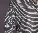 Blue&Blackの女性の`Sのストライプのシャツ