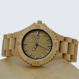 カスタマイズされたロゴのステンレス鋼のかえでの木製の腕時計