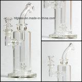 Neue 9.25 Zoll Mobius Glaswasser-Pfeife-mit 60mm Trinkwasserbrunnen-Matrix Perc unbesonnenem Tabak