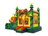 Lustiges Weihnachtsbaum-aufblasbares Schloss für springende Spiele