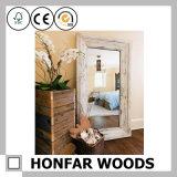 Рамка зеркала затрапезного большого размера деревянная для домашнего декора