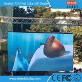 P3.91mm im Freienmiete gebogene video Bildschirm-Bildschirmanzeige der Wand-LED