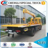 6 Flatbed Vrachtwagen van de Kraan van de Redding van Road van Dongfeng van het wiel