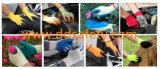 Latexschaum beschichtete Sicherheits-Handschuhe Zeichenkette gestrickten Dkl411
