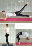 Guêtres serrées de yoga de qualité d'impression de mots