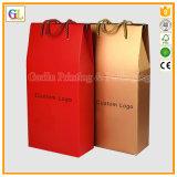 Caixa feita sob encomenda de venda superior do vinho vermelho do papel do cartão