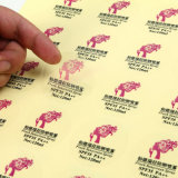 Papel de imprenta auto-adhesivo de encargo movible de la etiqueta autoadhesiva de Cmyk