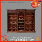 Cabina de visualización de madera del vino