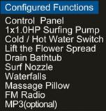 Massage Bathtub SPA met ZijGlas voor Persoon 2 (bij-9804)