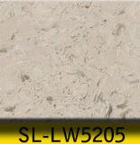 bancadas artificiais de lustro da veia do mármore da pedra de quartzo de 3250X1650mm