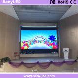 Pared video a todo color de interior P3/al aire libre de alquiler de fundición a presión a troquel delgada del LED para el funcionamiento de la etapa