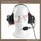 金属ブームマイクロフォンが付いているヘッドセットを取り消すヘッド騒音の後ろ