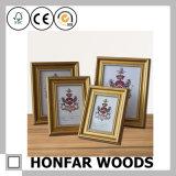 Blocco per grafici della foto di legno solido dell'oro di Paisley per il regalo promozionale