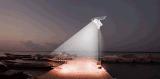 2016 éclairage solaire extérieur Integrated solaire chaud de détecteur de mouvement de réverbère de la vente 80W DEL