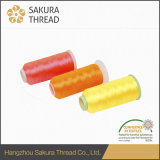 100%Polyester Thread met 1680 Color voor Embroidery