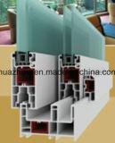88mm 시리즈 슬라이딩 윈도우 미닫이 문 미끄러지는 PVC 단면도