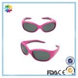 Extérieur protéger les yeux a polarisé le logo de coutume de lunettes de soleil de gosses de pourpre
