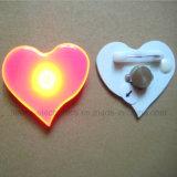 Clip magnético de la solapa de luz LED parpadeante del cuerpo botones (3161)