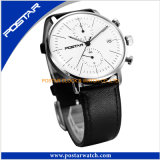 reloj dual de cristal abovedado del tiempo de la caja de acero inoxidable 316L