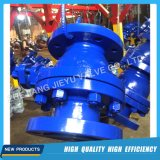 Válvula de esfera industrial do eixo da fundição de aço de Catbon