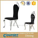 의자, 강철 대중음식점 가구를 식사하는 까만 작은 둥근 뒤 대중음식점