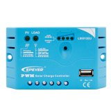 Contrôleur solaire 12V de charge d'Epever 5A PWM avec le remplissage solaire d'USB et fondre positif