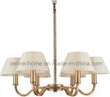 De Lamp van de kroonluchter met de Schaduw van 6 Stof voor Woonkamer (SL2099-6B)
