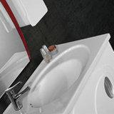 Белая мебель шкафа ванной комнаты лака с бортовым шкафом