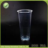 23oz/700ml는 돔 뚜껑을%s 가진 재생한 생물 분해성 Sealable 플라스틱 컵을 지운다